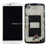 DISPLAY LCD + PANTALLA TACTIL DISPLAY COMPLETO + MARCO PARA LG K10 K420N BLANCO